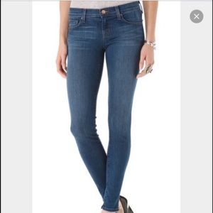 J Brand Mid-Rise 910 cropped skinny jeans,…